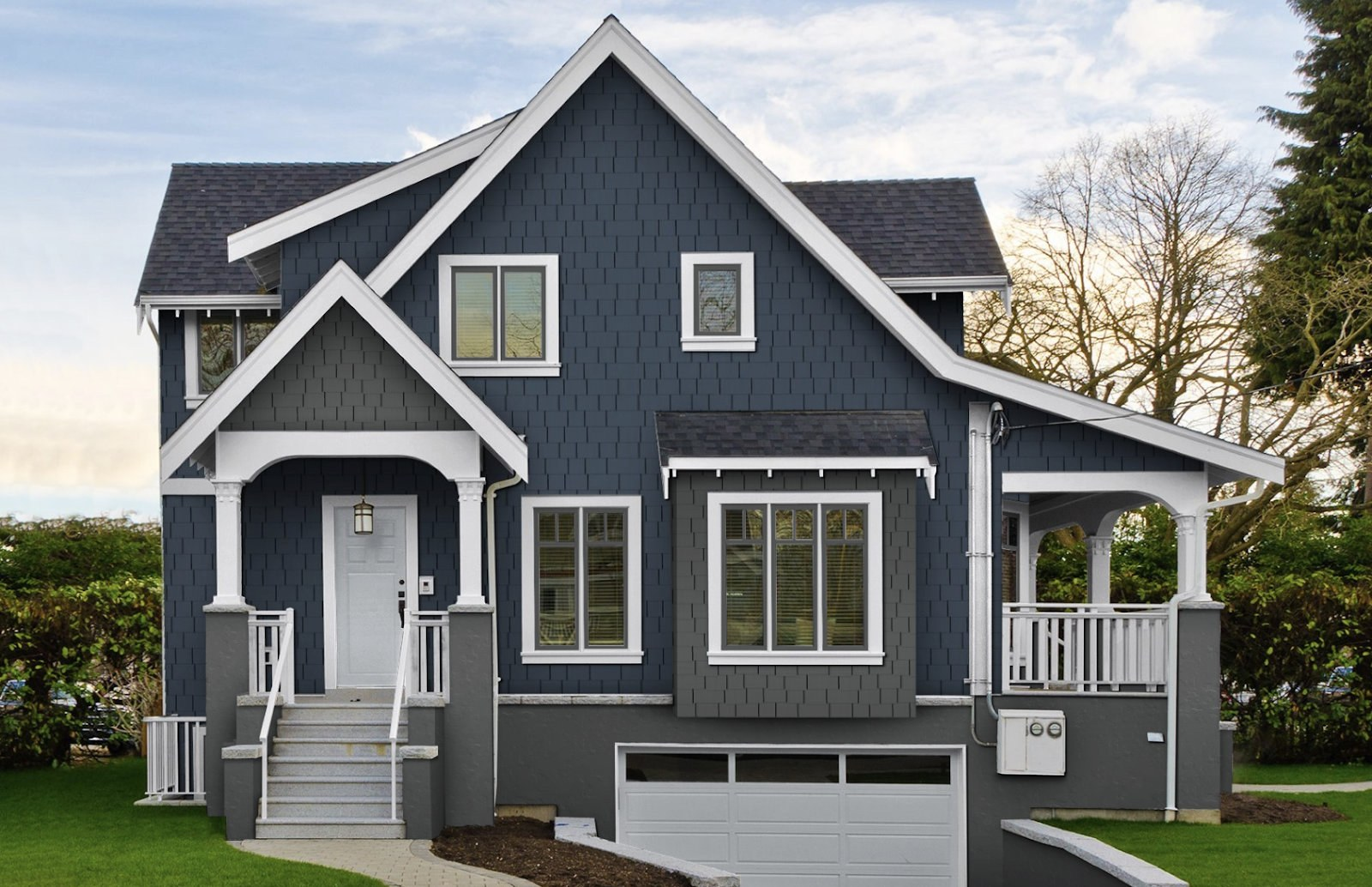 Two tone siding designs 5